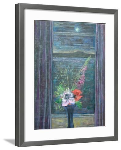 Summer Night (Bouquet in Window), 2013-Ruth Addinall-Framed Art Print