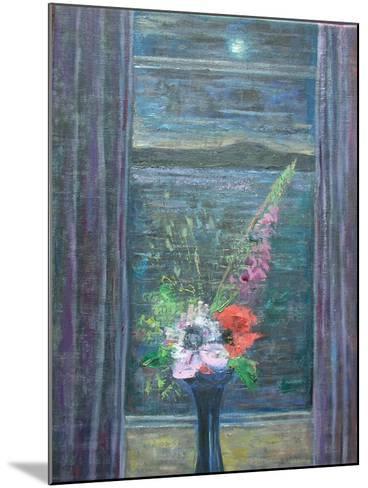 Summer Night (Bouquet in Window), 2013-Ruth Addinall-Mounted Giclee Print