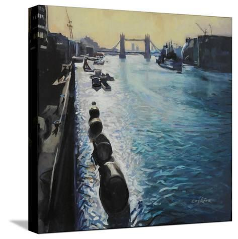The Thames - Summer Morning-John Erskine-Stretched Canvas Print