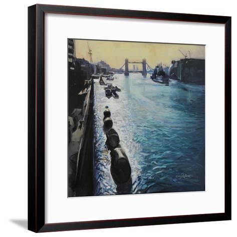 The Thames - Summer Morning-John Erskine-Framed Art Print