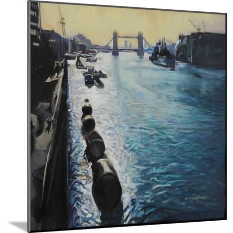 The Thames - Summer Morning-John Erskine-Mounted Giclee Print