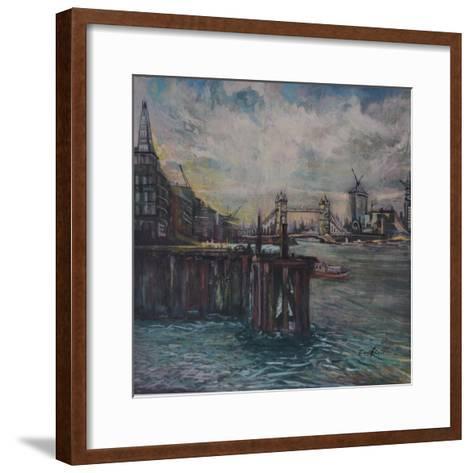 The Bermondsey Wall London-John Erskine-Framed Art Print