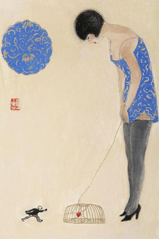 Littleman Series IV-Susan Adams-Stretched Canvas Print