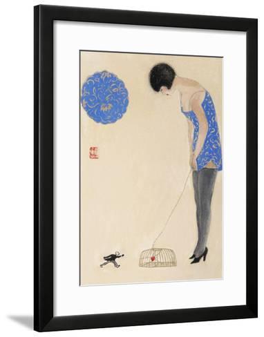 Littleman Series IV-Susan Adams-Framed Art Print