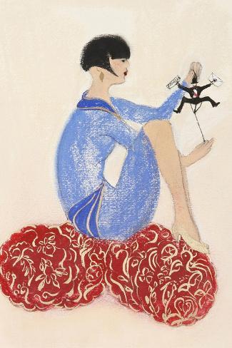Littleman Series I-Susan Adams-Stretched Canvas Print
