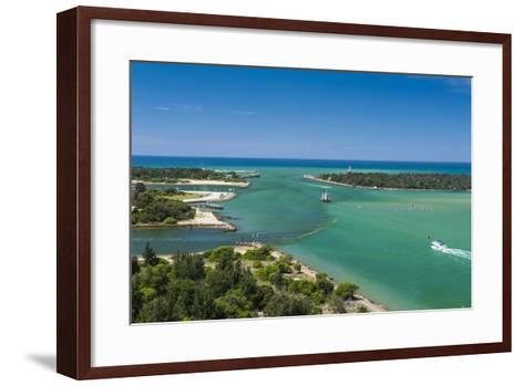 Turquoise Waters at Lakes Entrance, Victoria, Australia, Pacific-Michael Runkel-Framed Art Print
