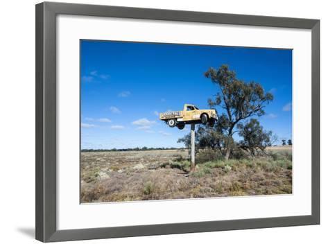 Old Truck on a Huge Pole-Michael Runkel-Framed Art Print