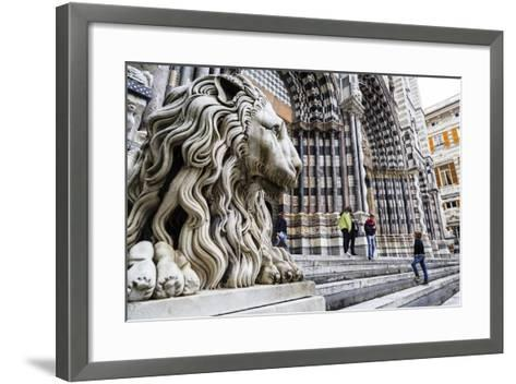 San Lorenzo Cathedral, Genoa, Liguria, Italy, Europe-Yadid Levy-Framed Art Print