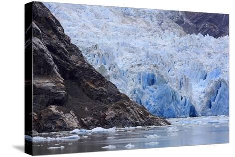 Sawyer Glacier in Tracy Arm Fjord, Alaska, United States of America, North America-Richard Cummins-Stretched Canvas Print