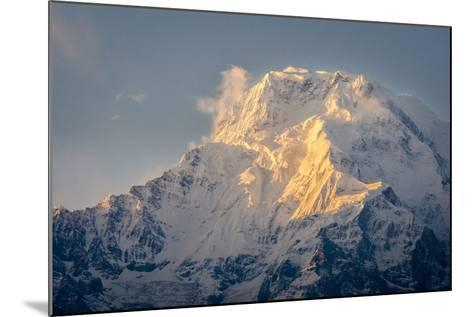 The Evening Sun on Annapurna South, 7219M, Annapurna Conservation Area, Nepal, Himalayas, Asia-Andrew Taylor-Mounted Photographic Print