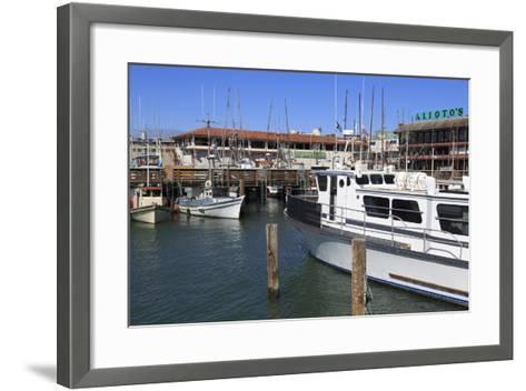 Commercial Fishing Boats at Fisherman's Wharf-Richard Cummins-Framed Art Print