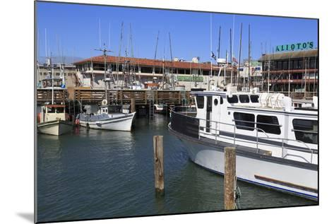 Commercial Fishing Boats at Fisherman's Wharf-Richard Cummins-Mounted Photographic Print