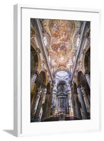 Frescoes on the Ceiling at the Church of San Matteo-Matthew Williams-Ellis-Framed Art Print