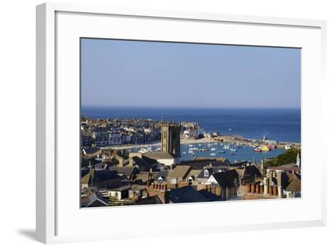 Panoramic Photo of St. Ives Church and Old Harbour-Peter Barritt-Framed Art Print