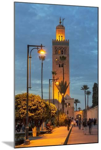 The Minaret of Koutoubia Mosque Illuminated at Night-Martin Child-Mounted Photographic Print