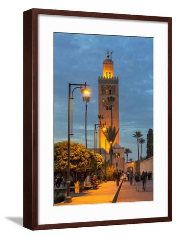 The Minaret of Koutoubia Mosque Illuminated at Night-Martin Child-Framed Art Print