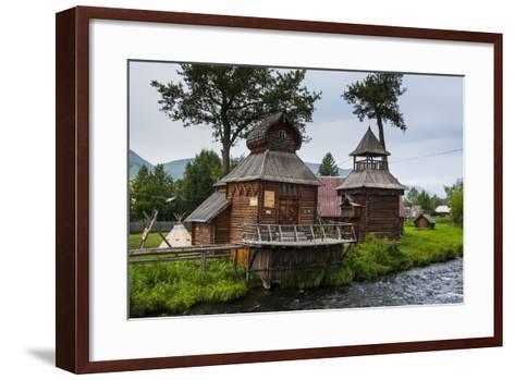 Traditional Rebuilt Houses in the Ewenen Museum in Esso, Kamchatka, Russia, Eurasia-Michael Runkel-Framed Art Print