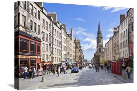 The High Street in Edinburgh Old Town-Neale Clark-Stretched Canvas Print