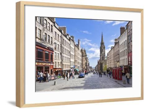 The High Street in Edinburgh Old Town-Neale Clark-Framed Art Print