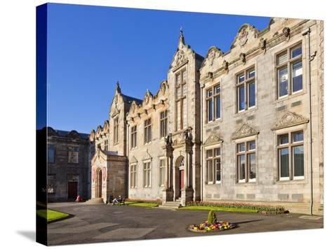St. Salvator's Hall College Entrance-Neale Clark-Stretched Canvas Print