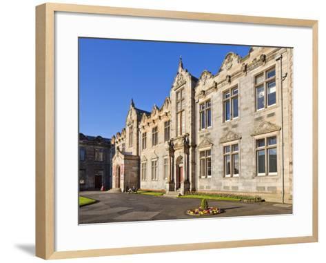 St. Salvator's Hall College Entrance-Neale Clark-Framed Art Print