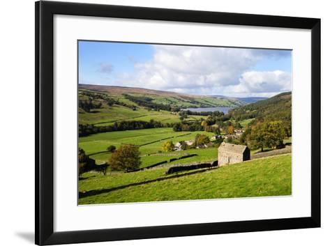 Field Barn Above Wath in Nidderdale-Mark Sunderland-Framed Art Print