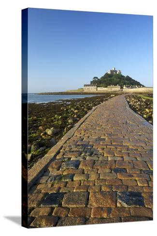 Causeway to St. Michaels Mount, Penzance, Cornwall, England, United Kingdom, Europe-Peter Barritt-Stretched Canvas Print