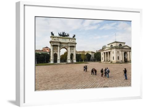 The Arch of Peace (Arco Della Pace), Sempione Park, Milan, Lombardy, Italy, Europe-Yadid Levy-Framed Art Print