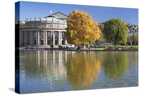 Staatstheater (State Theatre) and Schlosspark in Autumn-Markus Lange-Stretched Canvas Print