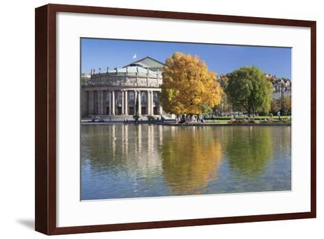 Staatstheater (State Theatre) and Schlosspark in Autumn-Markus Lange-Framed Art Print
