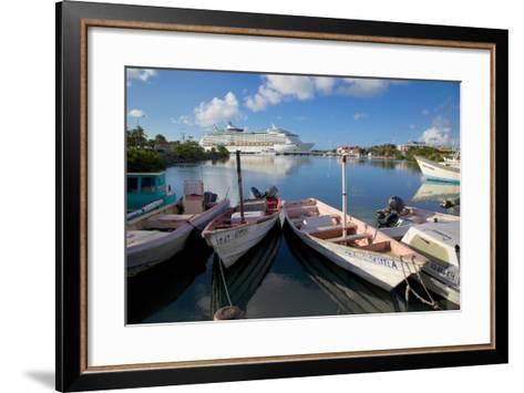 Cruise Ship in St. Johns Harbour-Frank Fell-Framed Art Print