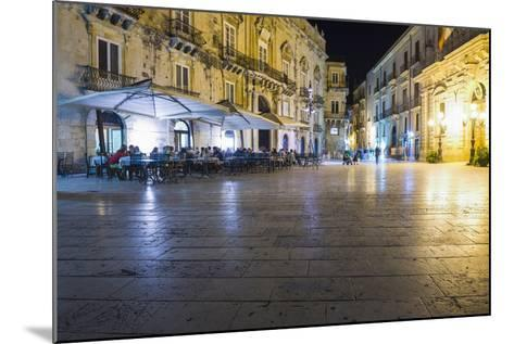 Tourists Eating at a Restaurant in Piazza Duomo at Night-Matthew Williams-Ellis-Mounted Photographic Print