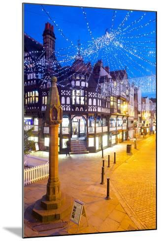 East Gate Street at Christmas, Chester, Cheshire, England, United Kingdom, Europe-Frank Fell-Mounted Photographic Print