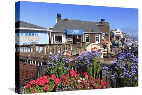 Restaurant on Pier 39, Fisherman's Wharf, San Francisco, California, United States of America-Richard Cummins-Stretched Canvas Print