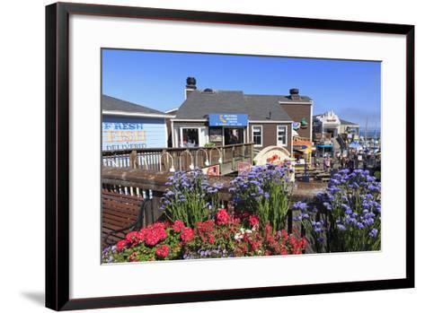 Restaurant on Pier 39, Fisherman's Wharf, San Francisco, California, United States of America-Richard Cummins-Framed Art Print