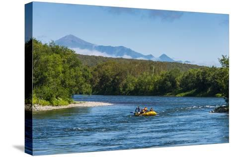 River Rafting on the Bystraya River, Kamchatka, Russia, Eurasia-Michael Runkel-Stretched Canvas Print