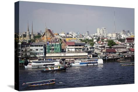Chao Phraya River, Bangkok, Thailand, Southeast Asia, Asia-Andrew Taylor-Stretched Canvas Print