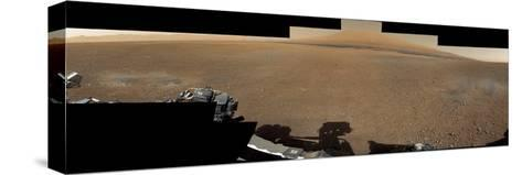 The Mars Rover, Curiosity, Inside Gale Crater Headed Toward Mount Sharp--Stretched Canvas Print