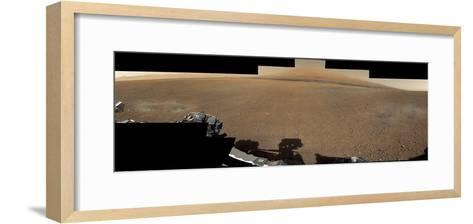 The Mars Rover, Curiosity, Inside Gale Crater Headed Toward Mount Sharp--Framed Art Print