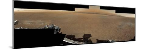 The Mars Rover, Curiosity, Inside Gale Crater Headed Toward Mount Sharp--Mounted Photographic Print