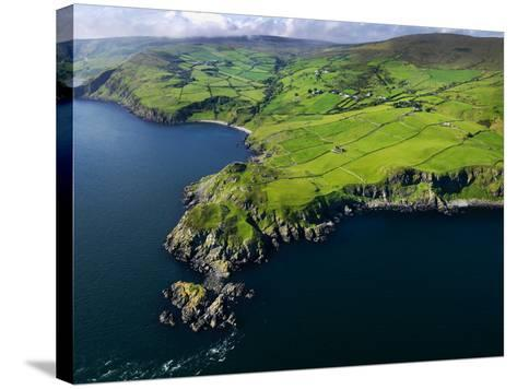 Aerial View of Torr Head on the North Antrim Coast-Chris Hill-Stretched Canvas Print