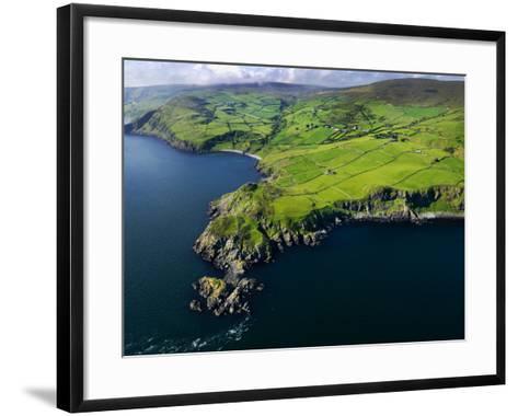 Aerial View of Torr Head on the North Antrim Coast-Chris Hill-Framed Art Print