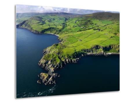 Aerial View of Torr Head on the North Antrim Coast-Chris Hill-Metal Print