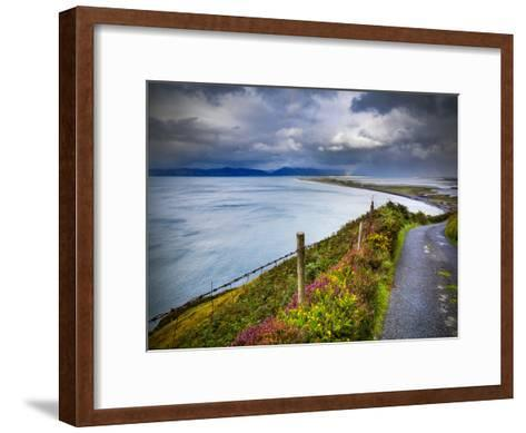 A Country Road Down to Rossbeigh in County Kerry-Chris Hill-Framed Art Print