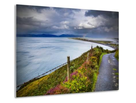 A Country Road Down to Rossbeigh in County Kerry-Chris Hill-Metal Print