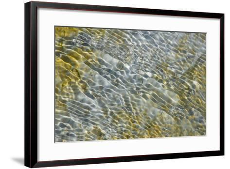 An Abstract Pattern of Ripples on Water's Surface-Tom Murphy-Framed Art Print
