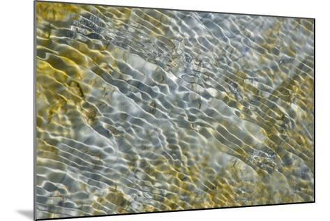 An Abstract Pattern of Ripples on Water's Surface-Tom Murphy-Mounted Photographic Print