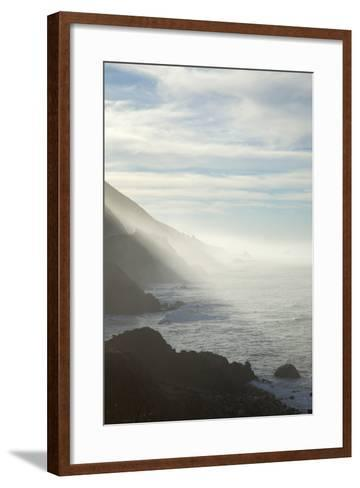 Early Morning Fog Lifts Off the Pacific Ocean Along the Big Sur Coastline-Macduff Everton-Framed Art Print