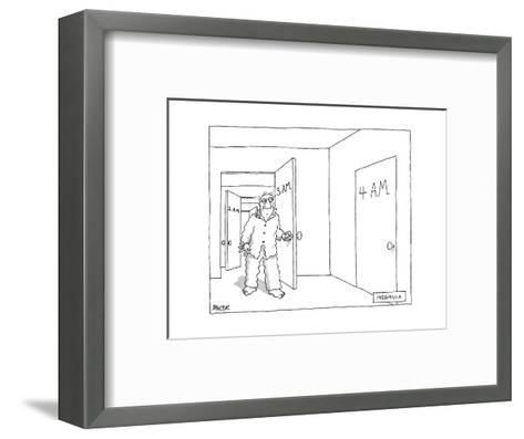 Insomnia - New Yorker Cartoon-Jack Ziegler-Framed Art Print
