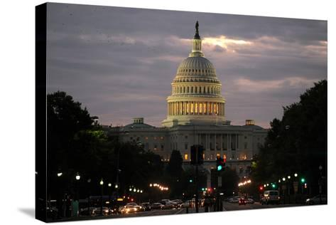 The West Front of the Us Capitol Building in Washington DC, USA-Michael Reynolds-Stretched Canvas Print